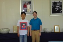 With Min Young Ki's son at his studio