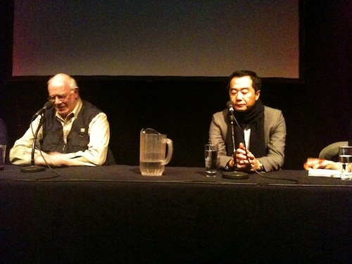 Jang Jin with Tony Rayns at the LKFF Q&A