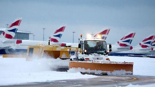 Snow at Terminal 5, Heathrow
