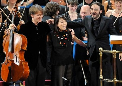 Unsuk Chin (centre) at a BBC Prom concert