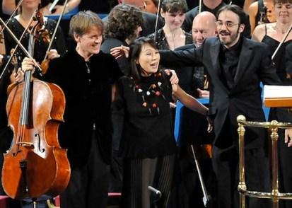 Unsuk Chin (centre) at a BBC Prom concert