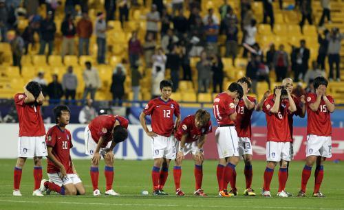 Despair from the South Korean team