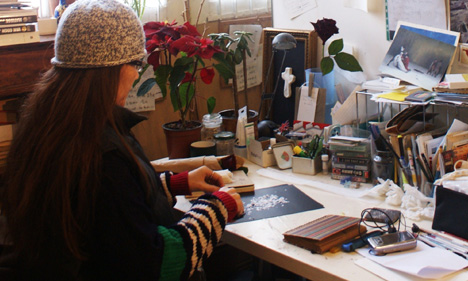 Francesca Cho in her studio
