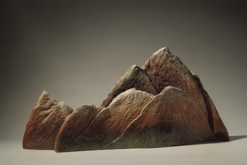 Han Hyang Lim, Mountain entering spring (2003). Mixed clay body