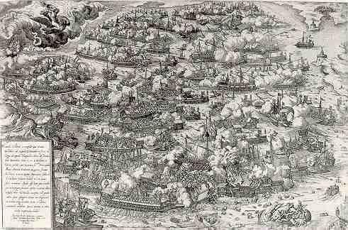 Battle of Lepanto by Martin Rota, 1571