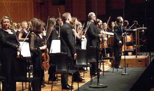 Conductor Ilan Volkos and the BBC Symphony Orchestra