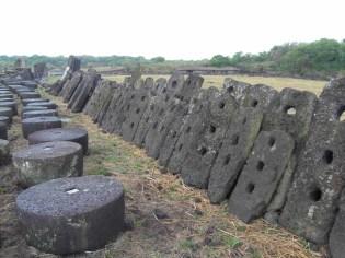 Basalt millstones