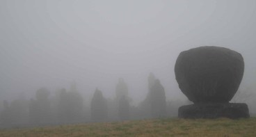 Jeju Stone Park in the mist