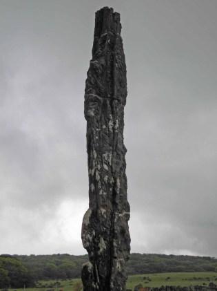 An extraordinary stone pillar in Jeju Stone Park