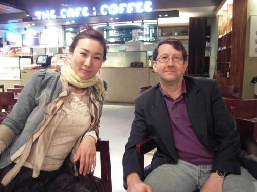 With Nam-hee in the coffee shop