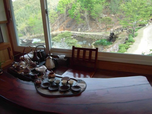 The tea table at Suseonsa