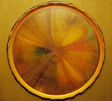 Gold Eclipsed: Luca Sangjun Kim. Acrylic on canvas, 2011. 107cm x 97cm