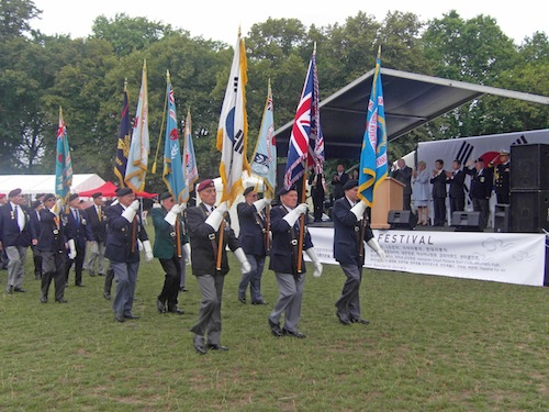 The Veterans March-past in 2010