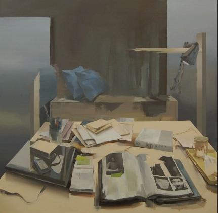 Eunsook Choi: Play at the room 2011, Acrylic on canvas, 130 x 130cm
