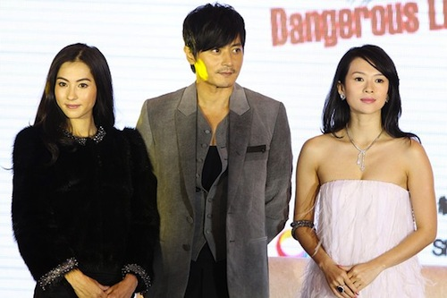 Jang Dong-gun with Cecilia Cheung (left) and Zhang Ziyi