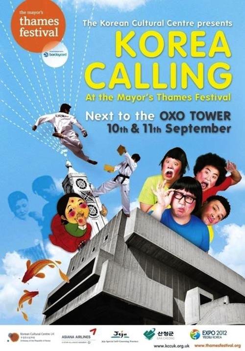 Korea Calling: Thames Festival poster