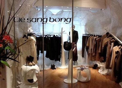 Lie Sang-bong's collection at Harrods
