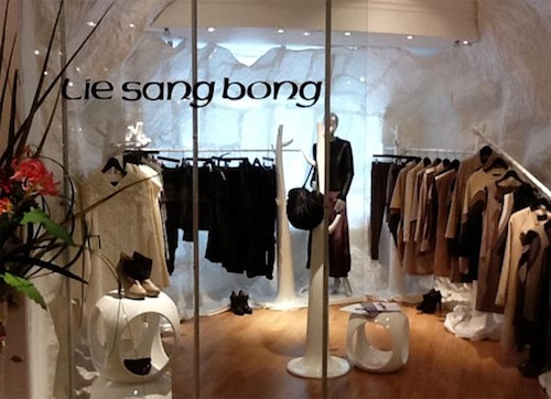Lie Sang-bong's collection at Harrods
