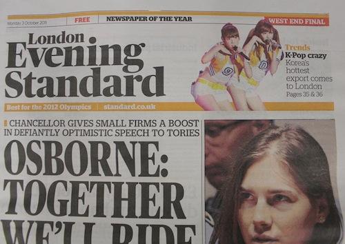 Evening Standard 3 October 2011