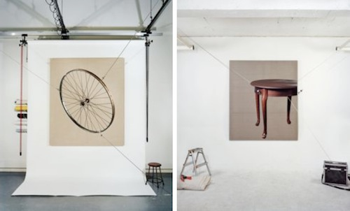 Seoyeoung Won: (Left) Wheel, Photography, 130x160cm, 2011, (Right) Table, Photography, 130x160cm, 2011