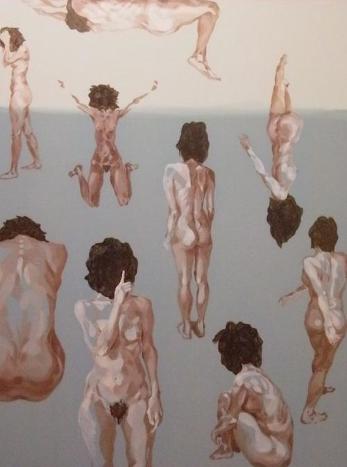 Jean Kim: Naked Journey - tempo di minuetto (2011). Oil on linen, 140 x 185cm