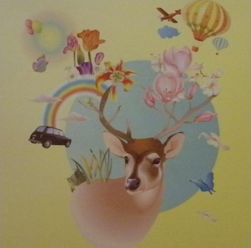 Shera Hyunim Park: Memory of Richmond Park (2010). Mixed media print on canvas, 65 x 65cm