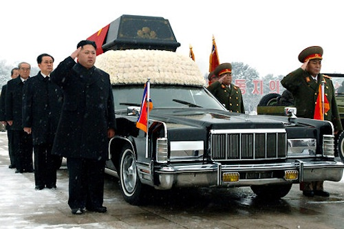Kim Jong-il's funeral car - a 1976 Lincoln Continental
