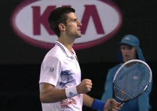 Novac Djokovic in the 2012 Australian Open final
