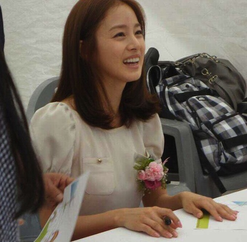 Kim Tae-hee, pictured on a visit to Sorokdo in May 2011