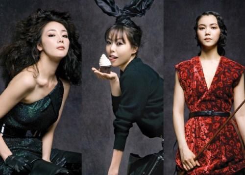 Choi Ji-woo, Kim Min-hee and Kim Ok-bin
