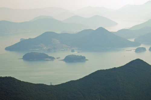 A view from the top of Mireuksan, Tongyeong, Gyeongsangnam-do