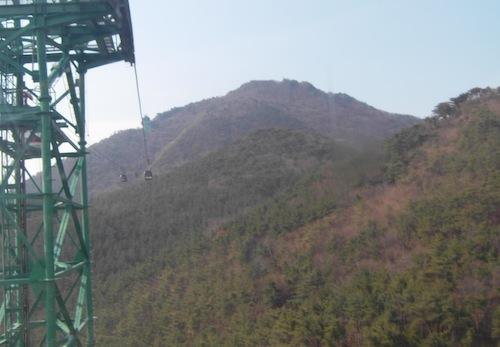 The Mireuksan cable car