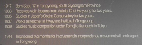 Wrong. The common error about Yun Isang's birthplace perpetuated in his memorial museum in Tongyeong