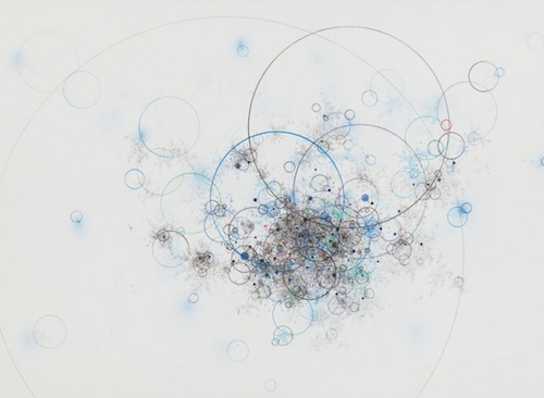 Lee Kang-wook: Untitled 12008 (2012). Mixed media on canvas 60x90cm