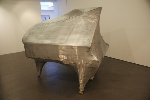 Grand piano, aluminium wire fiberglass life casting