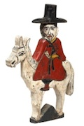 Triple-Faced Man Riding a Horse