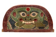 Dragon Face Board with Fish