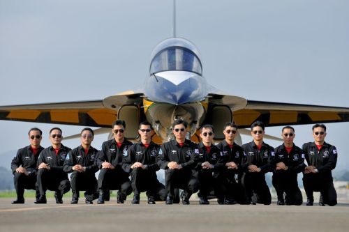 The Black Eagles on the ground