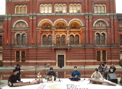 Baramgot perform in the V & A's inner courtyard