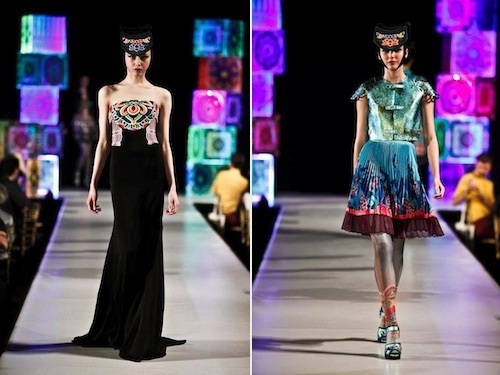 From Lie Sang Bong's Spring Summer 2012 Dancheong collection
