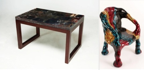 Gadum table and Monster chair