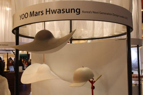 Hat-shaped lampshades by Mars Hwasung YOO