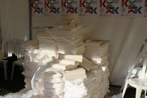 Thames Festival - piles of Lush soap