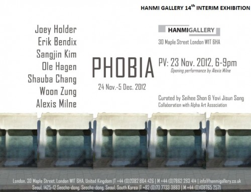 Post image for Exhibition news: Phobia – at Hanmi Gallery