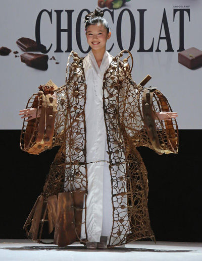 Kim Yoo-jung at the 18th Salon du Chocolat in Paris