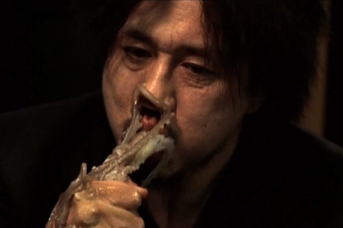 The infamous sannakji scene in Oldboy