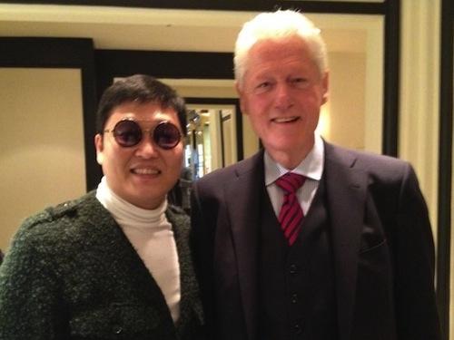 Psy and Bill Clinton