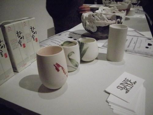 Sunae Kim's soju cups