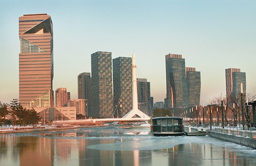 The I-Tower in Songdo