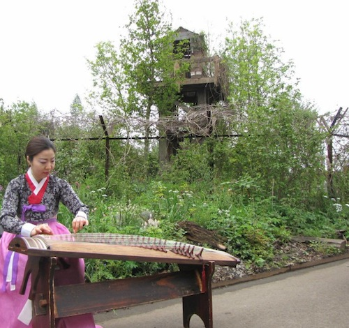 Jung Ji-eun performs on the gayageum